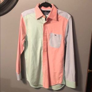 VineYard Vines Long Sleeve Button Up Sz Mens Small